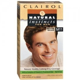 NATURAL INSTINCTS Color de pelo para los hombres M11 Medium Brown 1 Cada