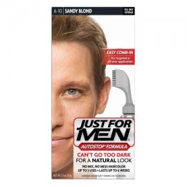Just For Men AutoStop Fórmula Fácil Comb-en Haircolor A10 de arena rubio 1.2 OZ