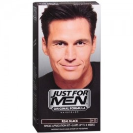 Just For Men Color de cabello H-55 real Negro 1 Cada (Pack de 2)