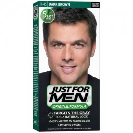 Sólo para hombres de pelo en color H-45 Café oscuro 1 Cada (Pack de 3)