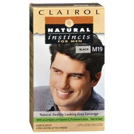 NATURAL INSTINCTS Color de pelo para los hombres Negro M19 1 Cada (paquete de 6)