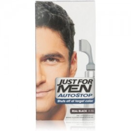 3 Pack - Just For Men AutoStop Color de pelo real Negro A-55 1 Cada