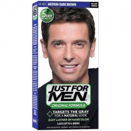 Just For Men Color de Pelo H-40 Soporte de color marrón oscuro 1 ea (paquete de 6)