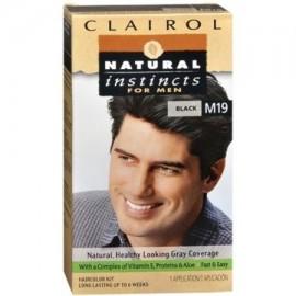NATURAL INSTINCTS Color de pelo para los hombres Negro M19 1 Cada (Pack de 2)