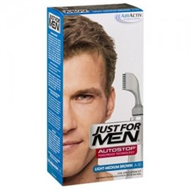 Just For Men AutoStop Foolproof Color de pelo Light-Medium Brown A-30 1 ea (Pack de 3)