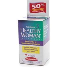 Healthy Woman soja menopausia Suplemento Tablets 45 ea (Pack de 2)