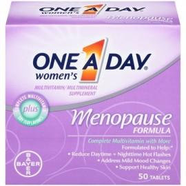 Menopausia Fórmula de multivitaminas de las mujeres la botella de 50 tabletas buque de EE.UU. marca One-A-Day