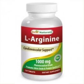 Best Naturals L-arginina Tablets 1000 mg 120 Ct