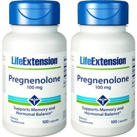 Life Extension Pregnenolone 100 mg 100 Cápsulas 2 Botellas