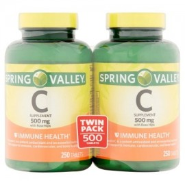 Spring Valley Vitamina C 500 mg Twin Pack