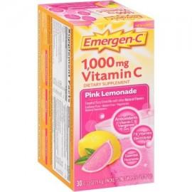 Emergen-C ® Pink Lemonade 1000 mg de vitamina C Suplementos Dietéticos Drink Mix 30 a 033 Oz. Los paquetes