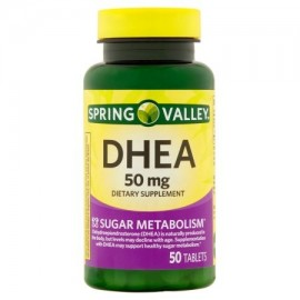 Spring Valley DHEA Tablets suplemento dietético 50 mg 50 recuento
