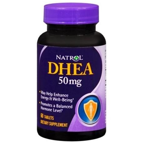 Natrol DHEA 50 mg comprimidos 60 comprimidos (Pack de 4)