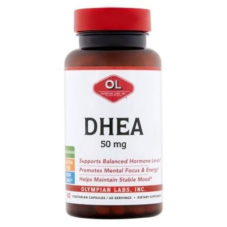 Olympian Labs cápsulas vegetarianas DHEA 50 mg 60 conteo