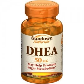 Sundown Naturals DHEA 50 mg Tablets 60 Tablets (Pack of 2)