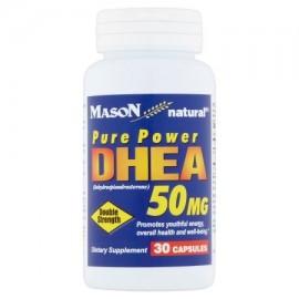 Mason Natural Doble Fuerza pura potencia DHEA Cápsulas 50 mg 30 conteo