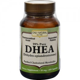ONLY NATURAL DHEA - 50 mg - 60 Cápsulas - (Pack de 2)
