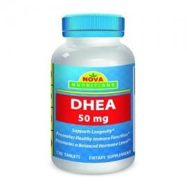 Nova Nutritions DHEA 50 mg Comprimidos Suplemento 120 - Compatible con los niveles de hormonas balanceadas para los hombres y