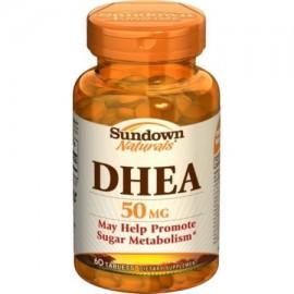 Sundown Naturals DHEA 50 mg comprimidos 60 comprimidos (paquete de 6)