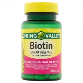 Spring Valley Biotina Softgels 5000mcg 120 ct