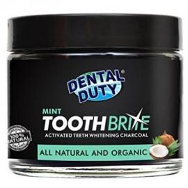 Blanquear los dientes naturales en polvo de carbón -Mint sabor- Hecho con coco orgánico carbón activado y arcilla bentonita p