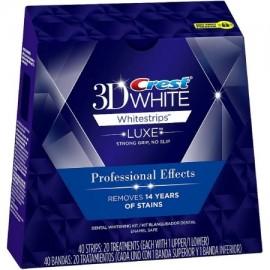 Crest blanco 3D Luxe Whitestrips efectos profesionales Blanqueamiento de dientes Kit 20 ea (paquete de 4)