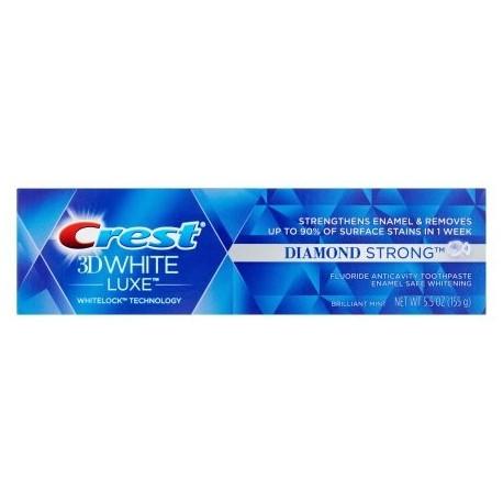 Blanco 3D Luxe diamante dientes fuertes pasta de dientes blanqueadora 55 oz