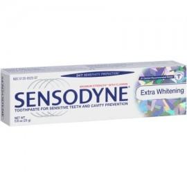 Sensodyne Extra White Pasta de Dientes Fluor para dientes sensibles tamaño del viaje 08 oz