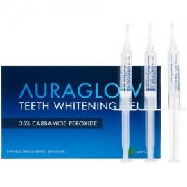 AuraGlow Blanqueamiento de dientes de gel 35% de peróxido de carbamida jeringas 3x5ml