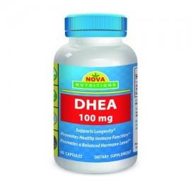 Nova Nutritions DHEA 100mg 60 Cápsulas Suplemento - Compatible con los niveles de hormonas balanceadas para los hombres y de la