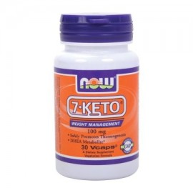 NOW alimentos vegetarianos 7-ceto control de peso 100 mg 30 Ct
