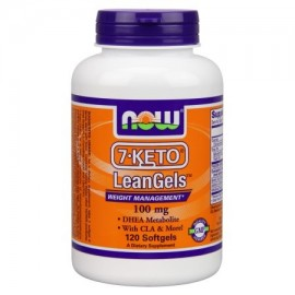 NOW Alimentos 7-Keto 100 mg de Leangels 120 Softgels
