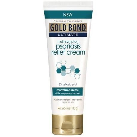Gold Bond Ultimate Multi-Symptom Psoriasis Relief Cream ácido salicílico al 3% 4 oz
