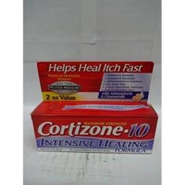 Cortizone 10 Fuerza máxima de Fórmula Healing Intensive 1% de hidrocortisona Anti-Itch Crème 2 oz