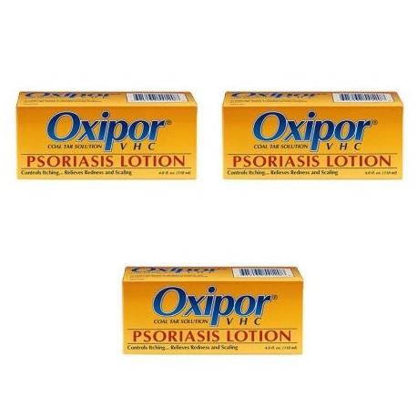 3 Pack Oxipor VHC Loción Psoriasis - 4 Oz (ayuda a detener la psoriasis)