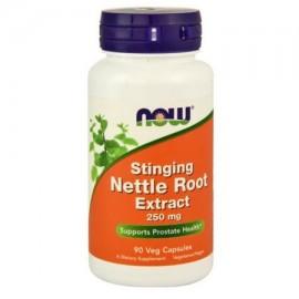 NOW alimentos vegetarianos raíz de ortiga Extracto de Apoyo a la Salud de próstata 250 mg 90 Ct