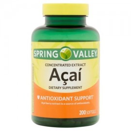 Spring Valley Softgels suplemento de acai Dietéticos 200 ct
