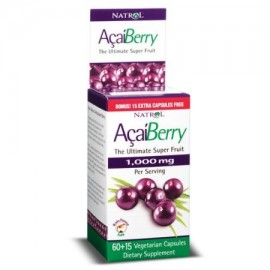 Natrol Acai Berry 1000mg 60 - 15 cápsulas vegetales 75 Ct