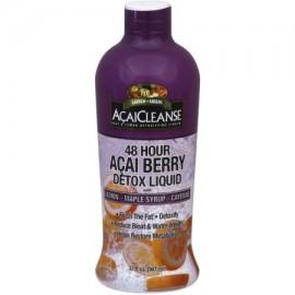 Garden Greens AcaiCleanse 48 horas Acai Berry Detox líquido con limón jarabe de arce y Cayenne 32 oz