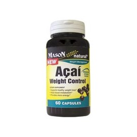 Cápsulas Suplemento Mason Natural Acai Control de peso dietéticos - 60 Ea