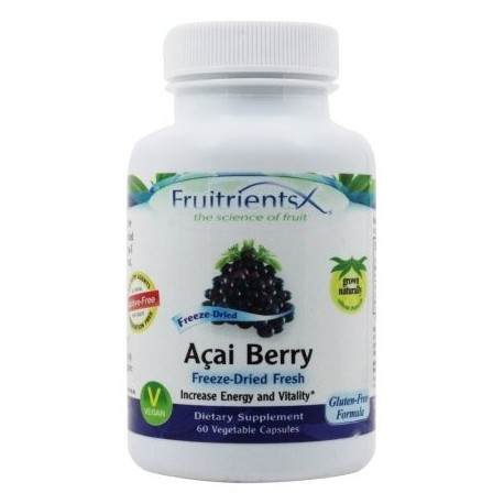 FruitrientsX - Acai Berry Freeze Dried frescas - 60 cápsulas vegetales