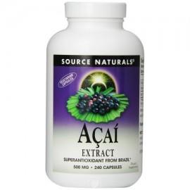 Fuente Naturals Acai Extract 500 mg cápsulas vegetarianas - 240 Ea