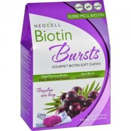 NeoCell Laboratories Biotina Explosiones - masticable - Acai Berry - 30 Conde - (Pack de 2)