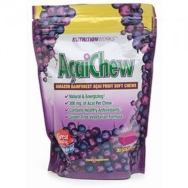 4 Pack - Nutritionworks AcaiChew Amazon Rainforest Acai Fruit 30 ea