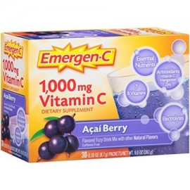 2 Pack Emergen-C Pink 1000 Mg Vitamin C Supplement Acai Berry 30 Packets Each