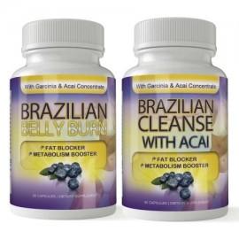 Quemadura del vientre brasileña y limpiar combinado con Fat Fighting Acai (60 cápsulas)