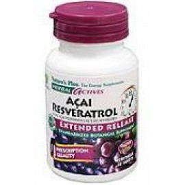 Herbal Actives Extended Release Acai Resveratrol Nature's Plus 30 VegTab