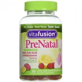 Vitafusion Pre Natal gomoso de los Suplementos Dietéticos Vitaminas limón y frambuesa limonada Sabores 90 cada uno