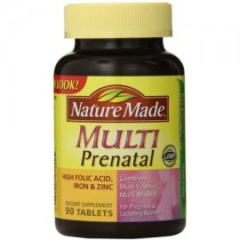 Nature Made Multi prenatal Vitamina comprimidos 90 ea (Pack de 2)