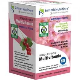 SUMMIT NUTRITIONS suplemento prenatal de multivitaminas total alimentos integrales en la dieta vegetariana tabletas 30 conteo